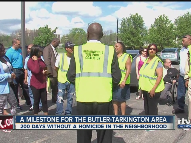 Indianapolis neighborhood celebrates 200 days without a homicide