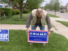 Man tries to stump Trump-sign thieves