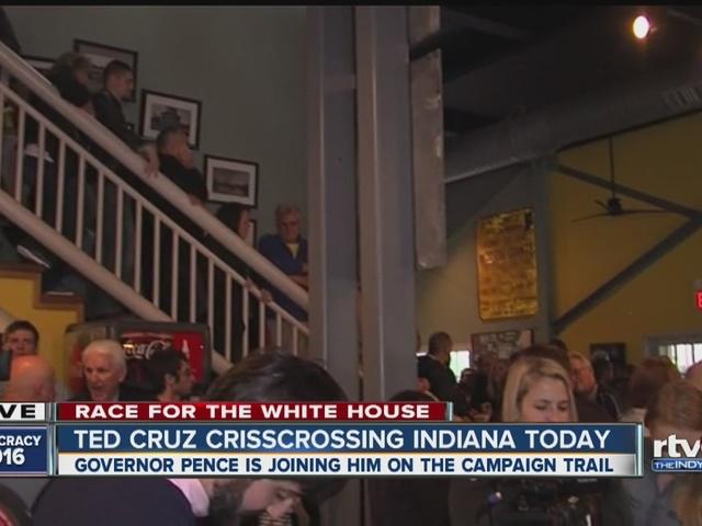 Ted Cruz crisscrossing Indiana