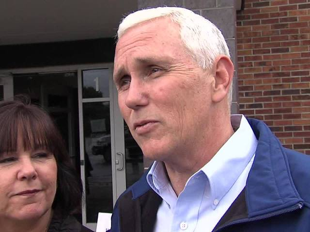 Gov. Mike Pence votes on Primary Election Day