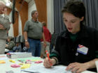 Students skip school to spend hours at polls