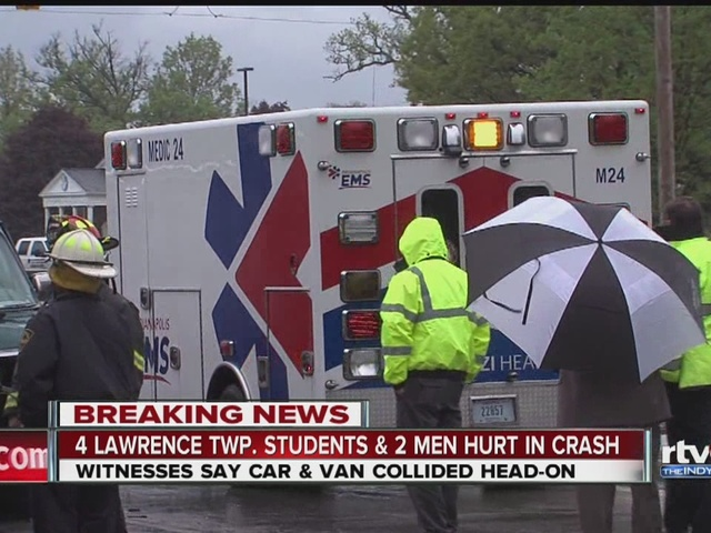 4 Lawrence Township students hospitalized after crash
