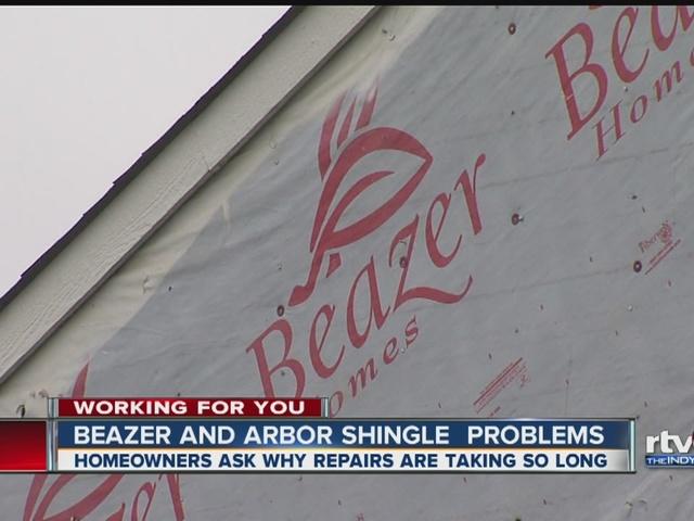 Beazer and Arbor Homes shingle problems continue