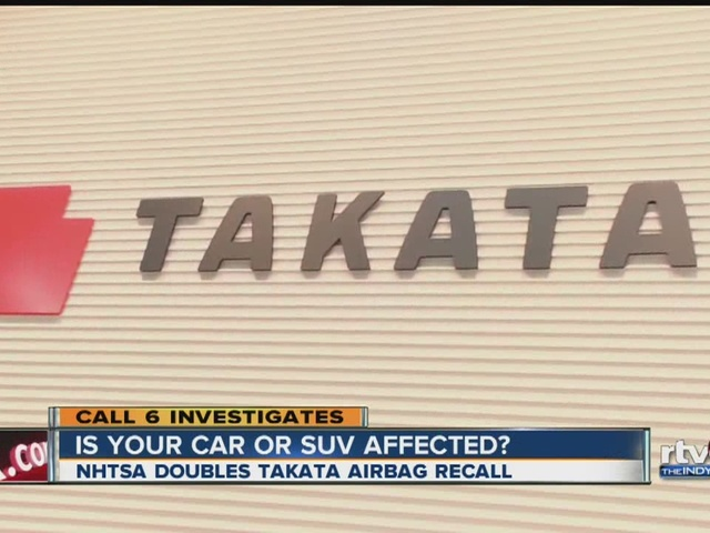 Call 6: Is your car or SUV affected in Takata airbag recall?