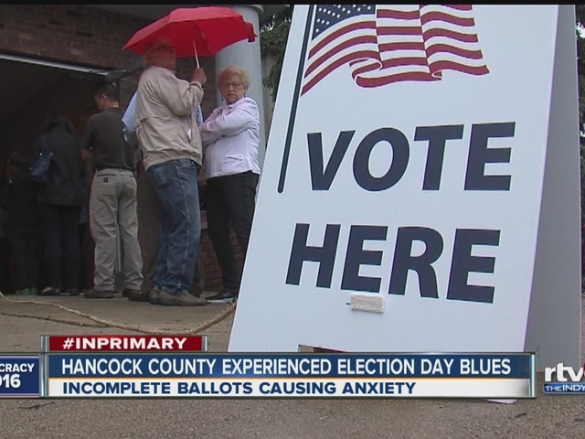 Hancock County experienced Election Day blues