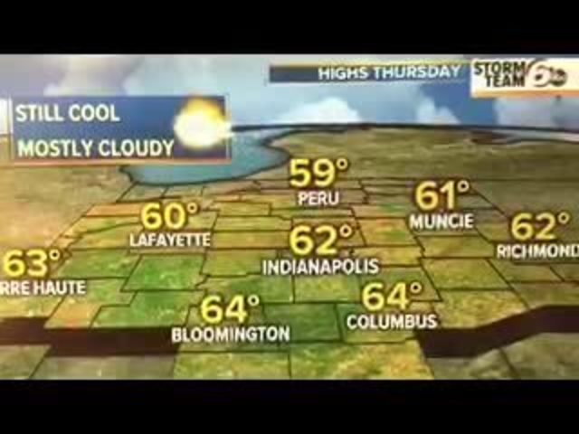 Weather forecast: Evening of May 4, 2016