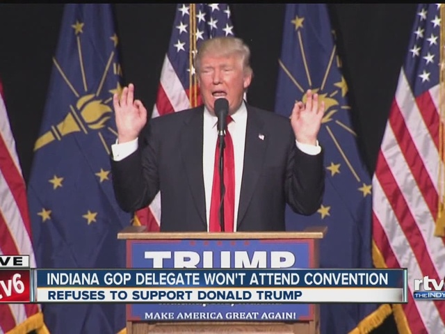 Indiana GOP delegate won't attend convention