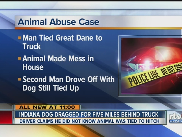 Indiana dog dragged for five miles behind truck