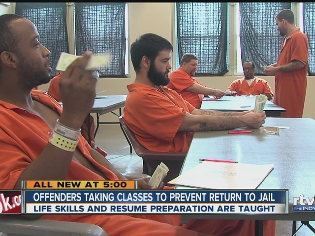 Offenders taking classes to prevent return to jail