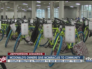 Jefferson Awards: McMiracle bike giveaway