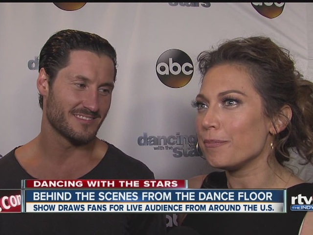 Behind the scenes from DWTS