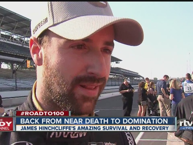 James Hinchcliffe takes pole 1 year after near-fatal crash