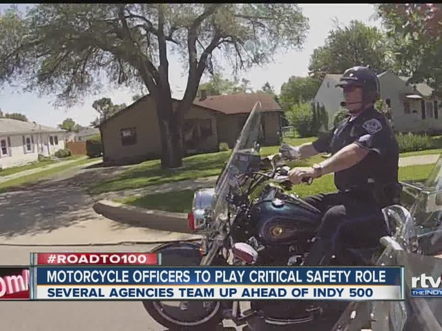 Motorcycle officers to play critical role in Indy 500 safety