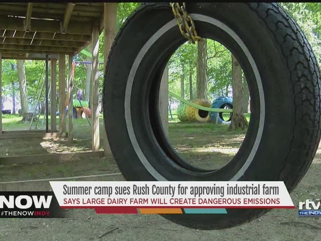 Summer camp sues Rush County over approval of dairy farm location