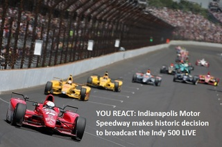 YOU REACT: RTV6 to air Indy 500 live