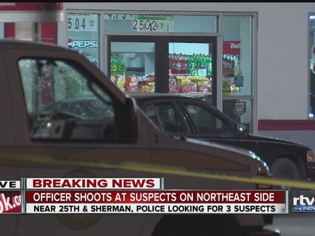 IMPD officer fires gun at convenience store suspects