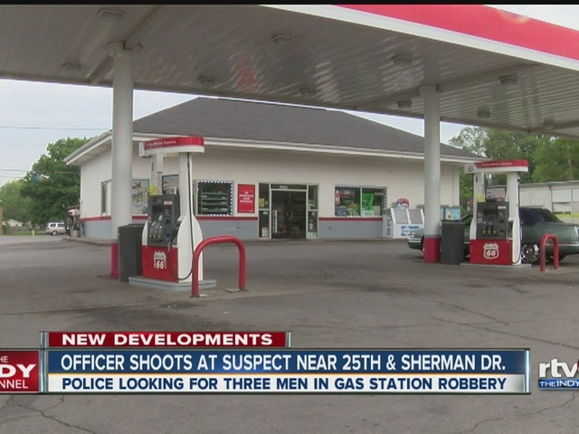 IMPD officer fires gun at convenience store robbery suspects