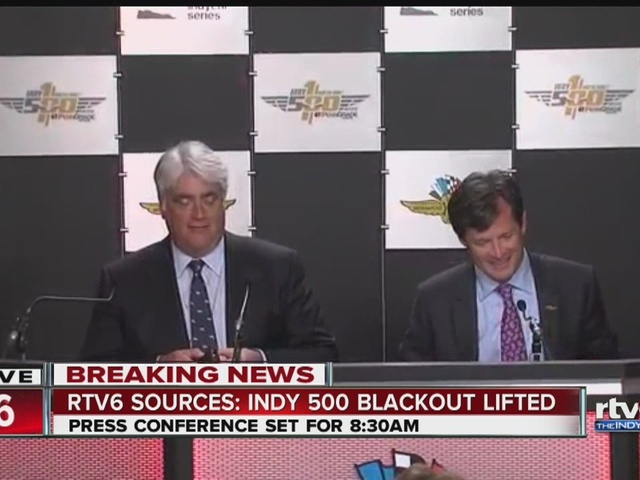 Indy 500 blackout lifted: Full Indianapolis Motor Speedway announcement