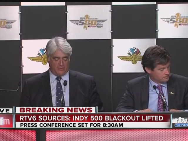 Indy 500 blackout lifted for first time since 1950