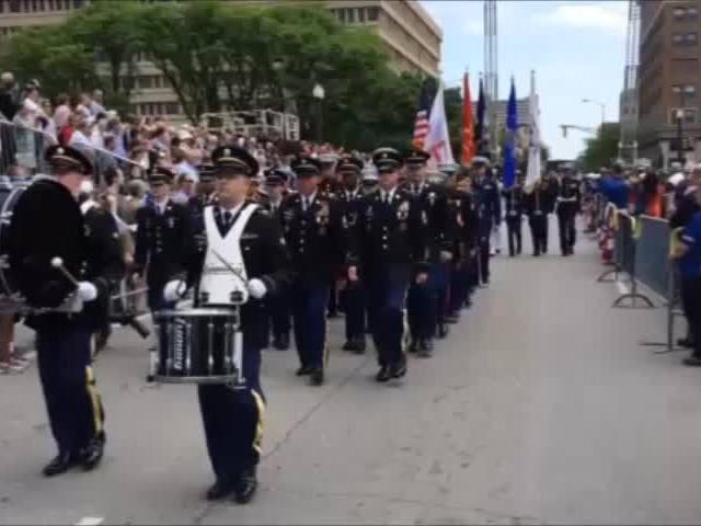 Memorial service at War Memorial