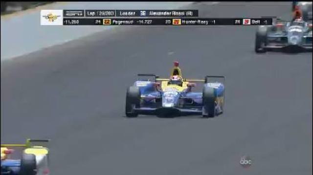 Rookie Rossi wins 100th Indy 500 on empty tank