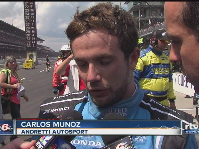 Carlos Munoz speaks after 2nd place finish