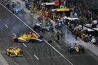 Crashes during the 100th Running of the Indy 500