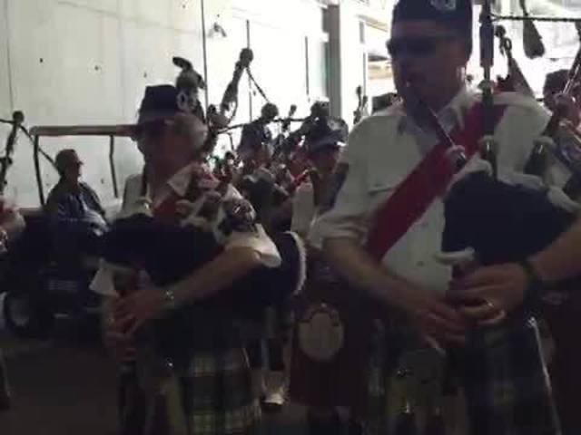 Gordon Pipers at the Indy 500