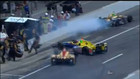 Hunter-Reay, Bell collide in the pits