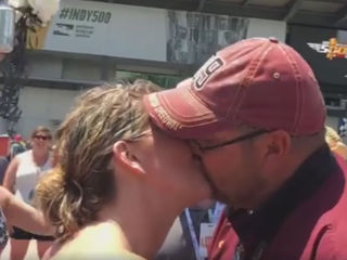 Couple gets married at Lap 100 of the Indy 500