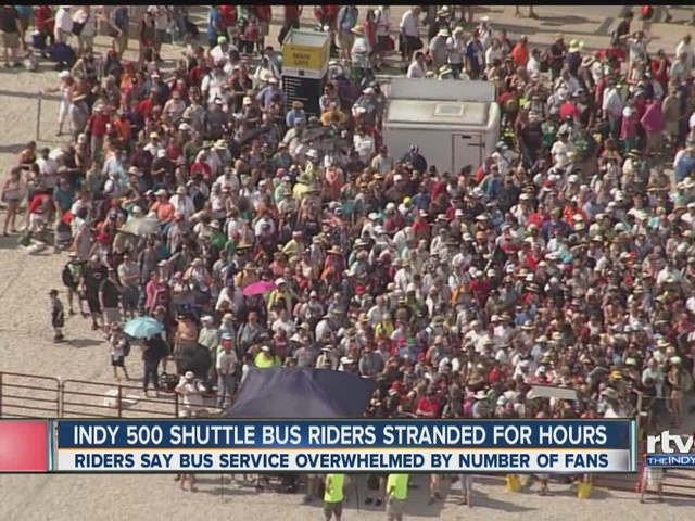 Indy 500 bus riders stranded for hours