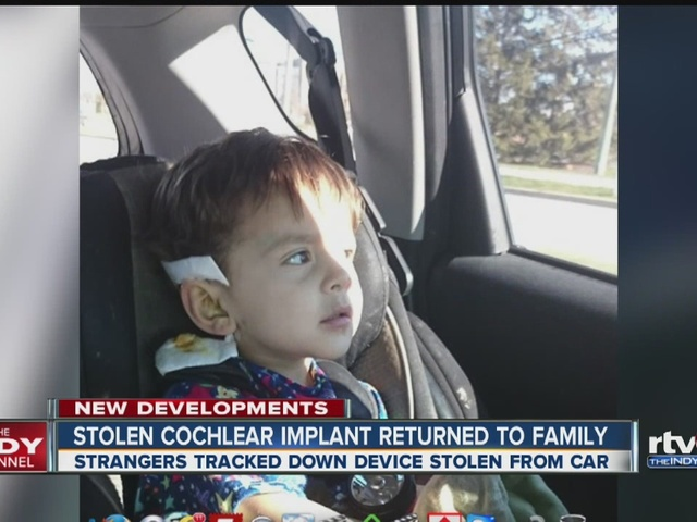 Stolen cochlear implant returned to family