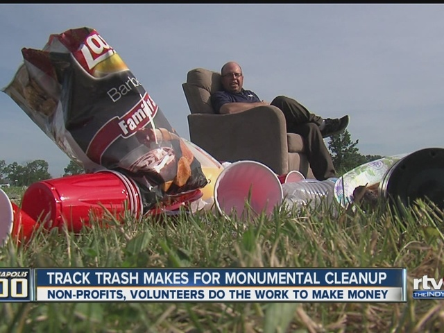 Track trash makes for monumental cleanup