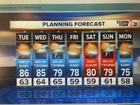Warm Tuesday. T'Storms possible Wednesday.