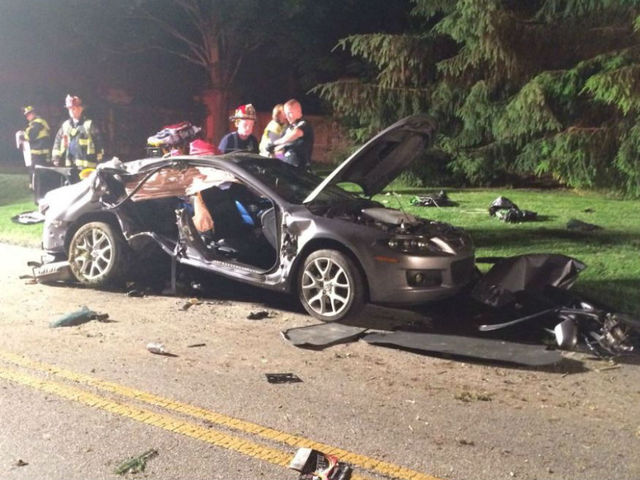 1 trapped, 3 critical in Carmel crash