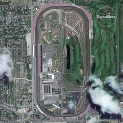 From space: See the 100th Indianapolis 500
