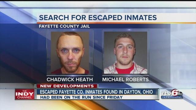 Dayton police arrest IN jail escapees