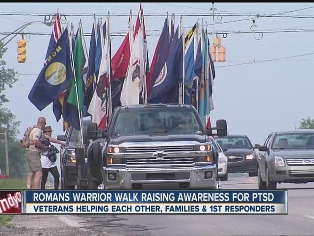 Group walks across state for PTSD awareness