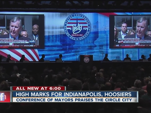 High marks for Indianapolis, Hoosiers from Mayors Conference