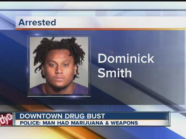 Man arrested with weapons and drugs