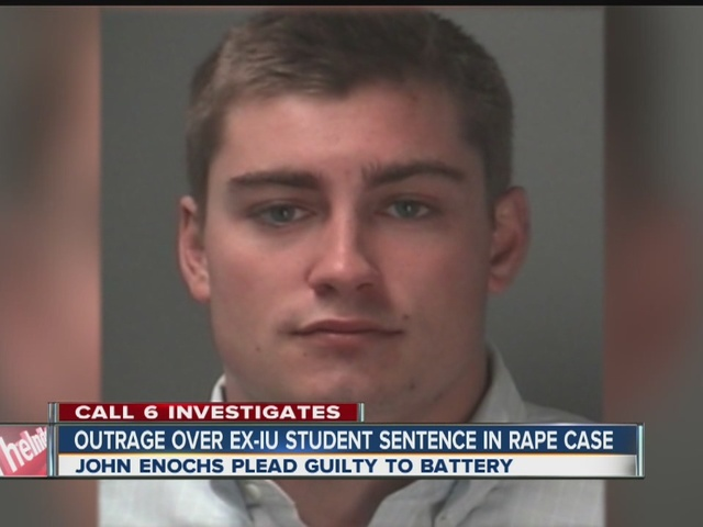 Outrage over ex-IU student's sentence in rape case