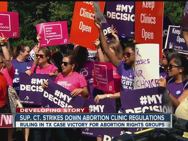 Reaction to Supreme Court's decision on Texas abortion law