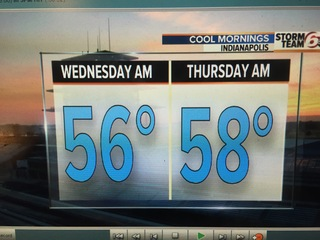 Much cooler Tuesday. Dry through Thursday.
