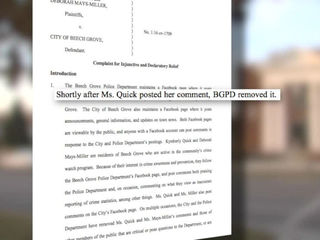 Beech Grove sued over deleted Facebook comments