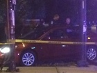 Man shot, car crashed on near north side