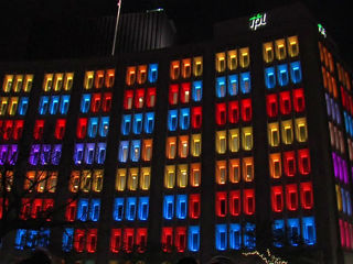 WATCH: Indy Foundation hosts light show downtown