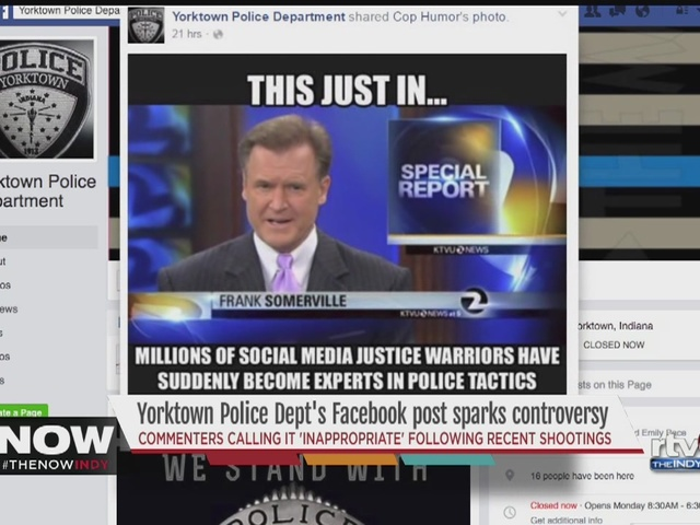 Yorktown Police Department Facebook Controversy