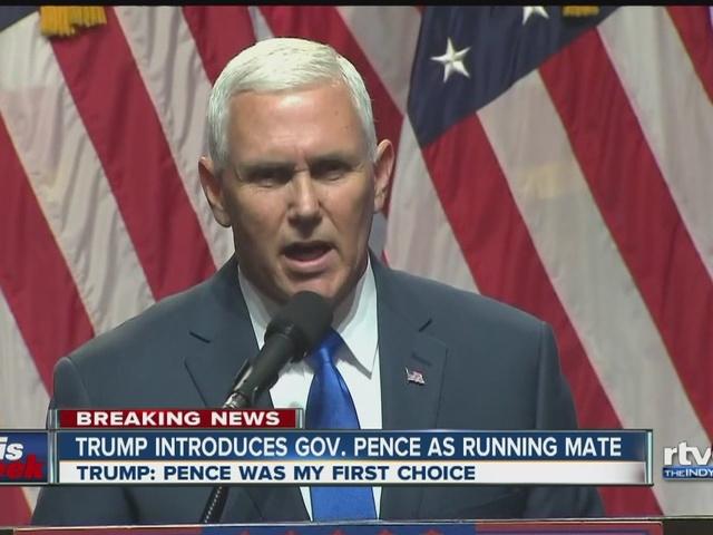 Indianapolis This Week July 17: Pence as Trump's VP, Evan Bayh and…