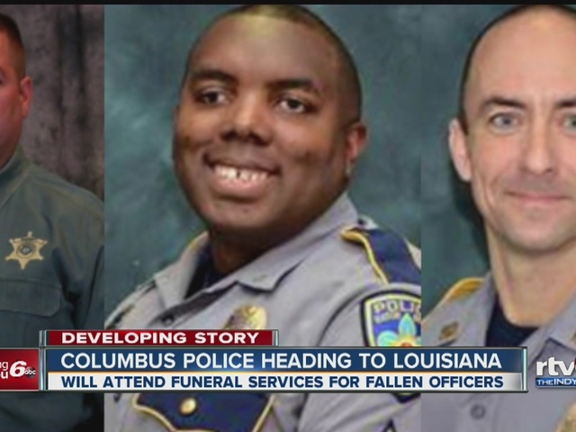 Columbus police to attend funeral for Baton Rouge officers TheIndyChannel c