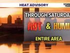 Heat Advisory! Hottest Friday through Sunday